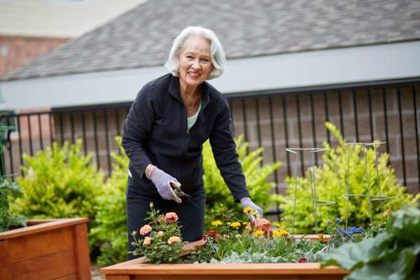Gardening at Holly Creek Retirement Community in Centennial