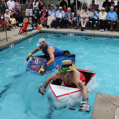 Boat Regatta at Holly Creek Retirement Community