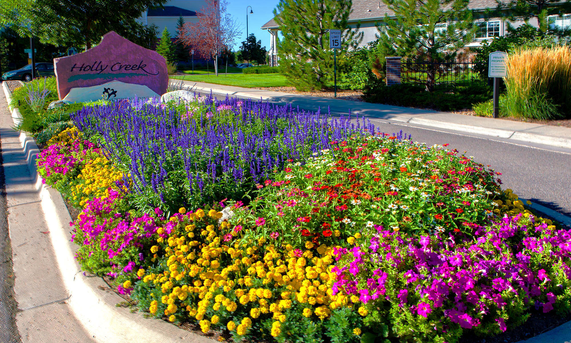 Flowers at Holly Creek Retirement Community
