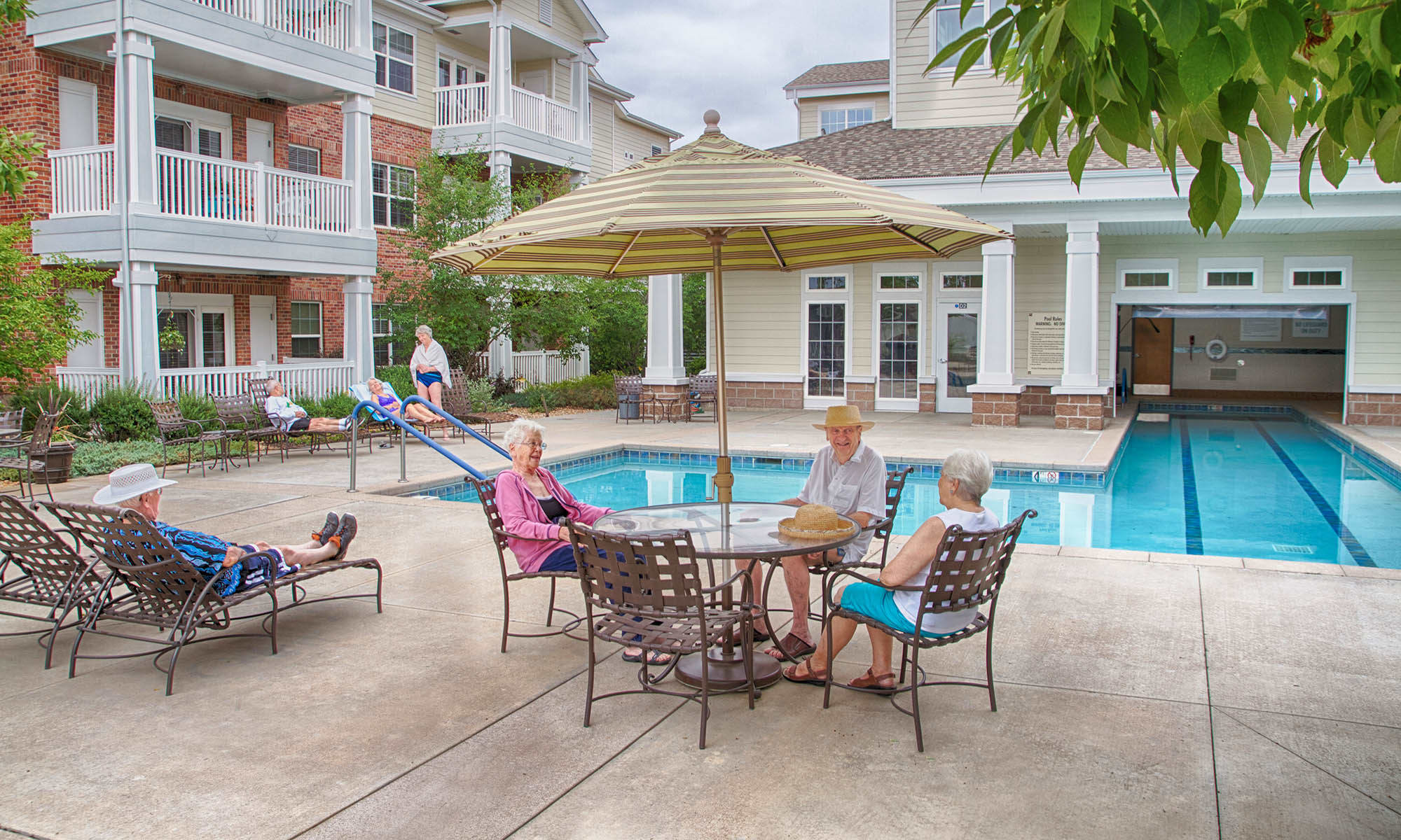 Pool Patio at Holly Creek Retirement Community