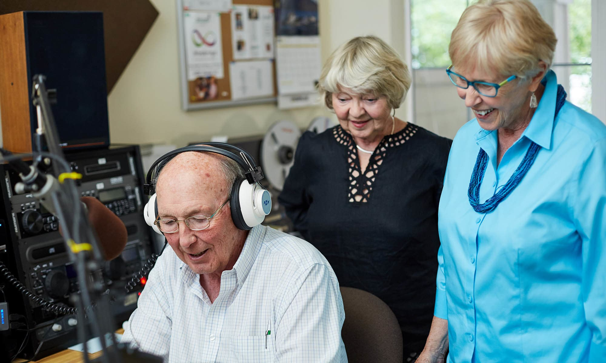 learning the community radio at Holly Creek Retirement Community