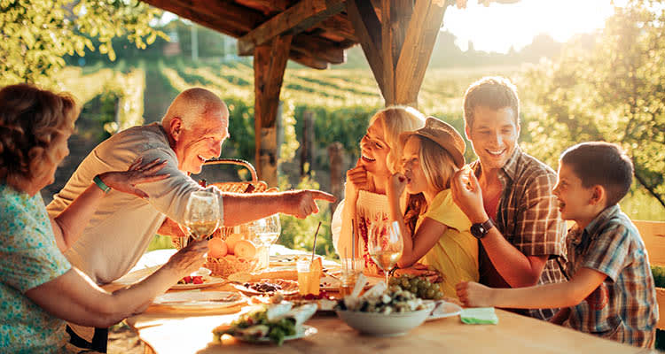 Join our family table and enjoy a delicious meal at Kipling Meadows