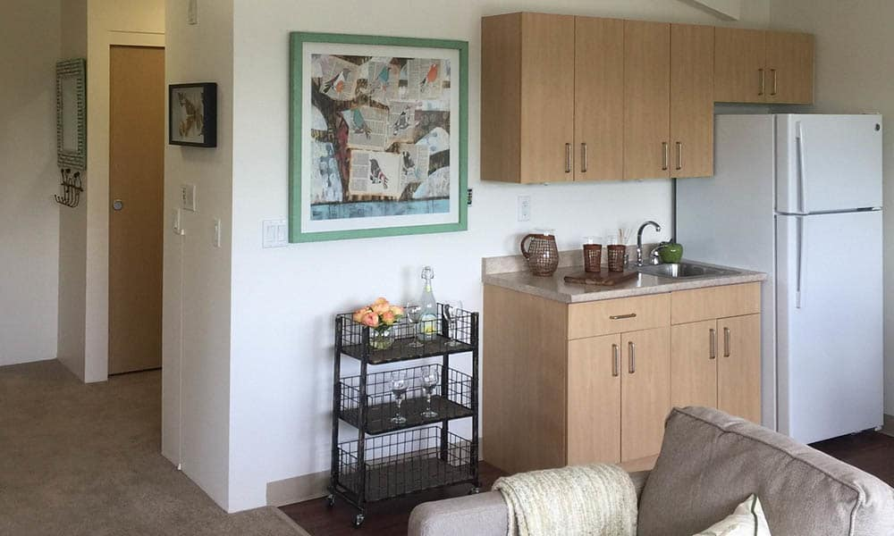 Kitchenette at Kipling Meadows in Arvada, CO