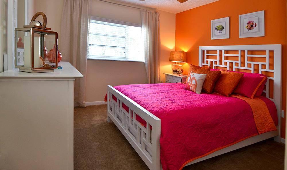 Apartment bedroom in Tamarac, FL