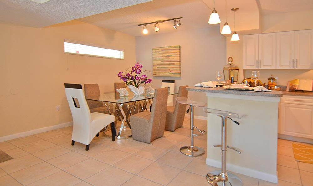 Dining room at Cypress Club Apartments in Tamarac