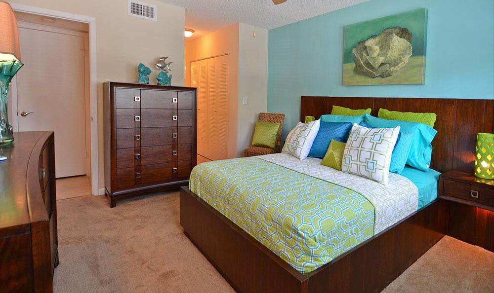 Bedroom at Cypress Club Apartments in Tamarac