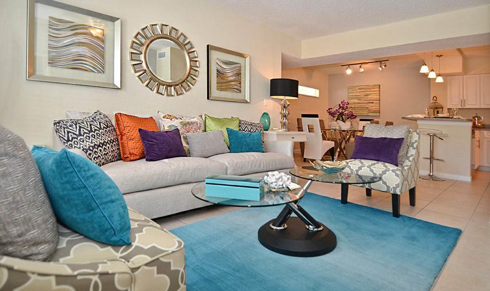 Apartment Living Room in Tamarac, FL