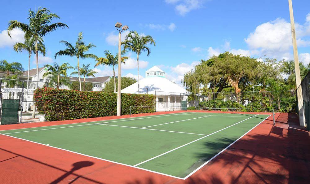 Tennis Court Outside Apartments In Tamarac