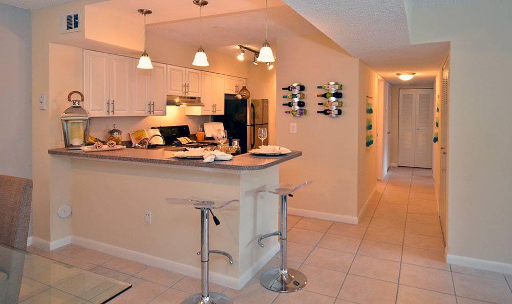 Kitchen at Cypress Club Apartments in Tamarac