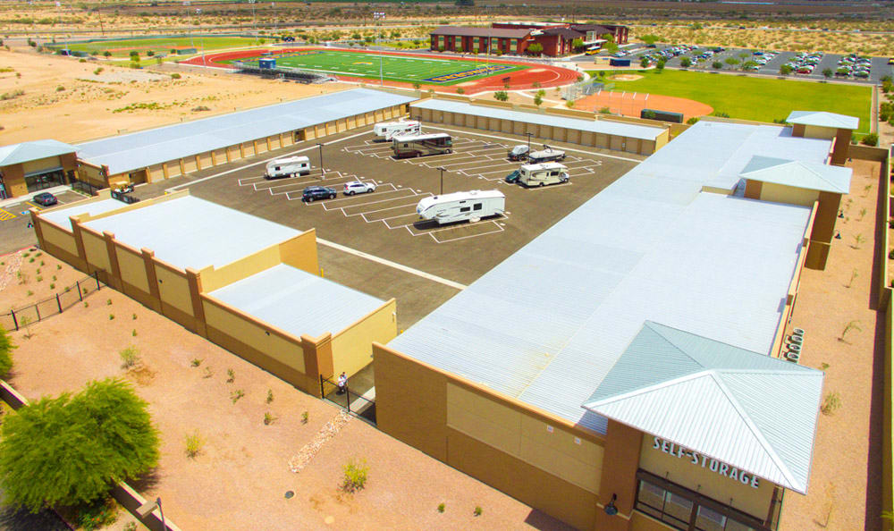 Vehicle storage available at Dominion Self-Storage in Queen Creek