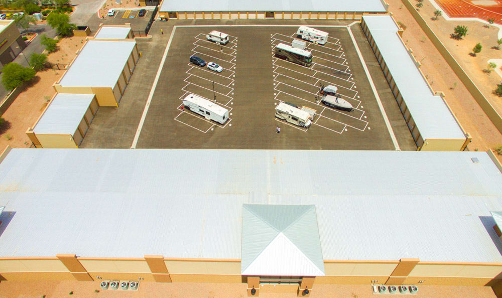 Vehicle storage available at Dominion Self-Storage in Queen Creek, AZ