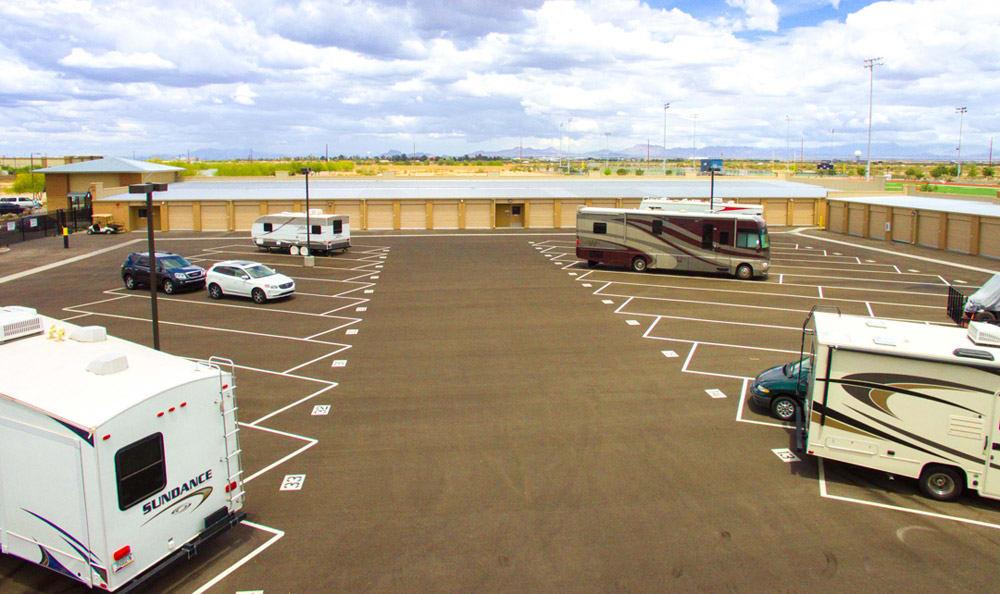 RV storage at Dominion Self-Storage in AZ