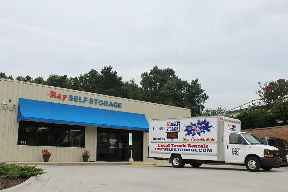 Rent a unit from Ray Self Storage and use our moving truck!