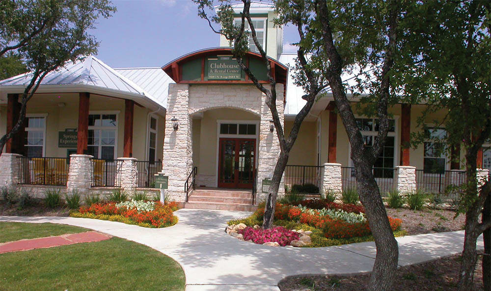 Clubhouse Exterior At Springs at Bandera Apartments