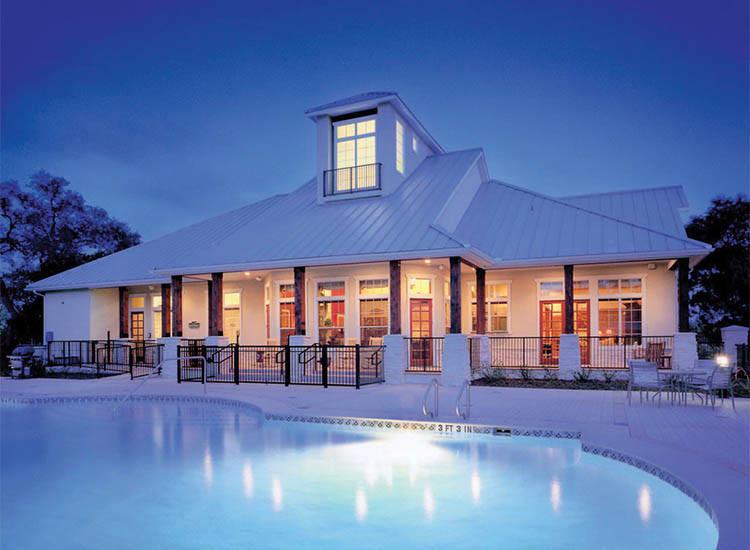 Night Pool Shot At Springs at Bandera Apartments