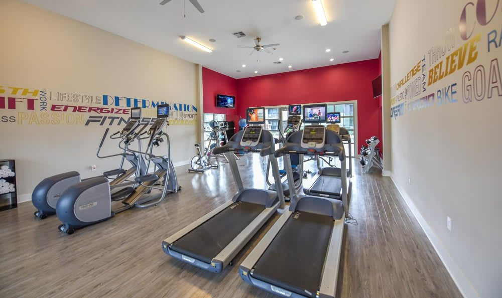 Springs at Fremaux Town Center Apartments includes amenities like fitness center