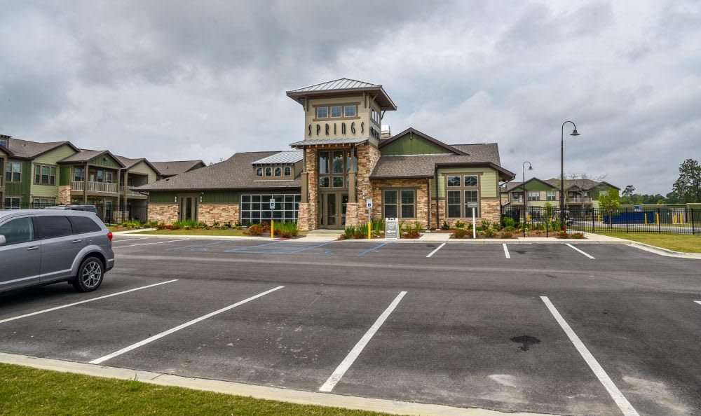 Clubhouse exterior at Springs at Fremaux Town Center Apartments in Slidell