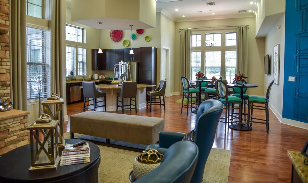 Clubhouse interior at Springs at Fremaux Town Center Apartments in Slidell