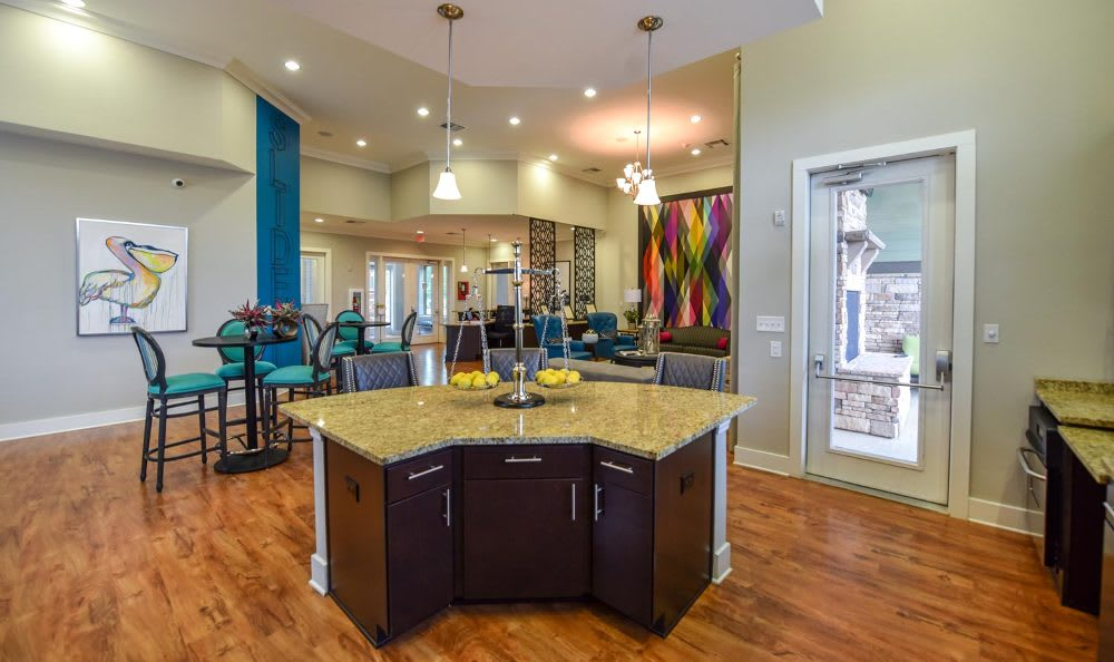 Gorgeous clubhouse at Springs at Fremaux Town Center Apartments in Slidell
