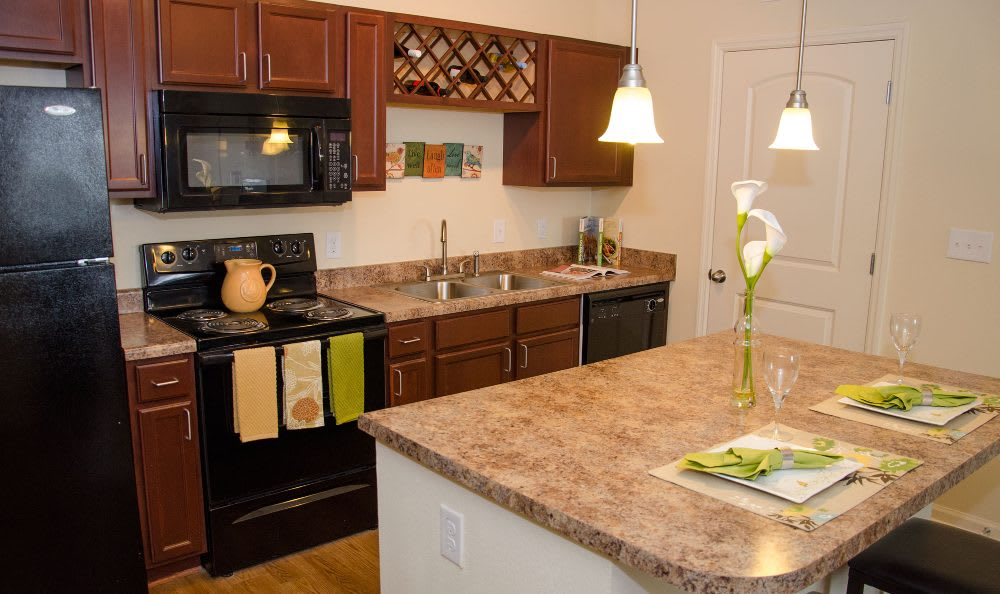Kitchen at Springs at Jordan Creek in West Des Moines