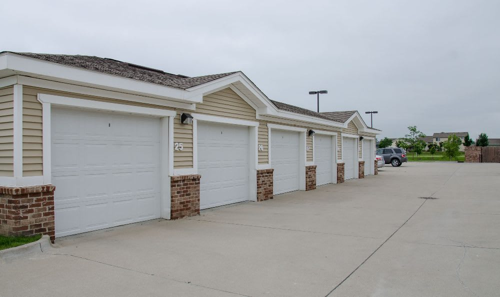 Detached garage at Springs at Jordan Creek in West Des Moines