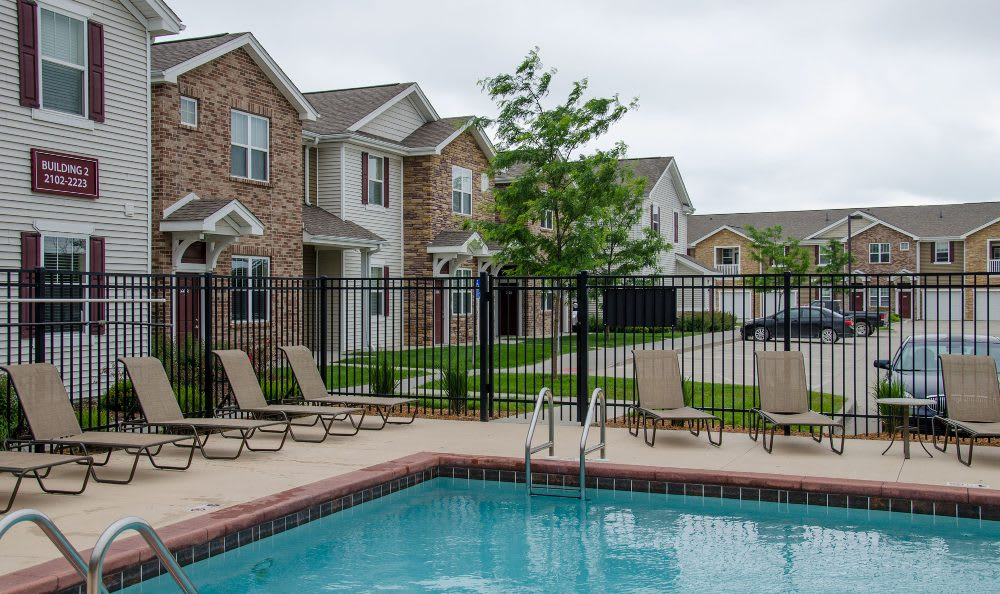 Resort-style pool at Springs at Jordan Creek in West Des Moines