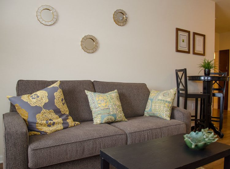 Living room at Springs at Jordan Creek