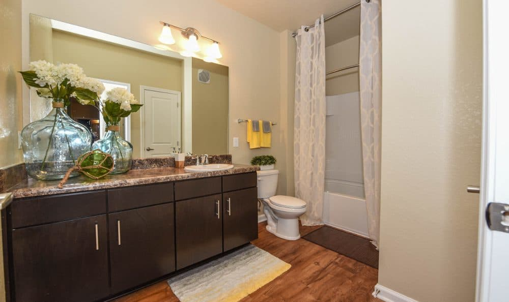 Bathroom at Springs at Liberty Township Apartments in Liberty Township