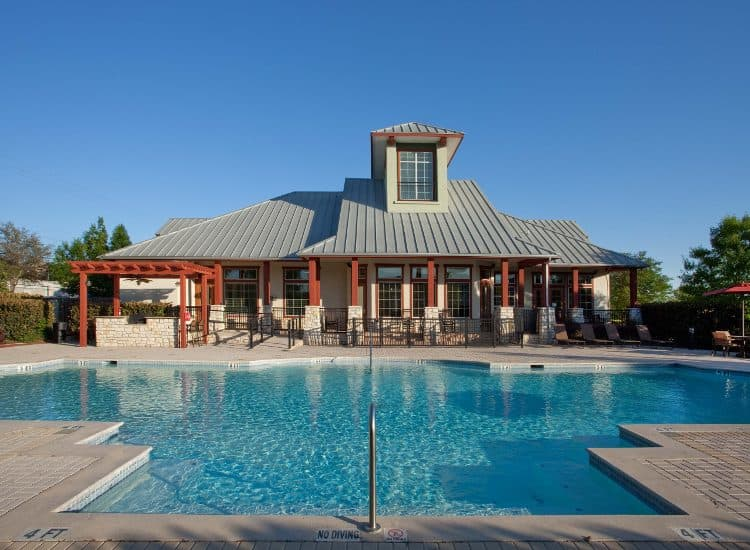 Pool at Springs at Live Oak Apartments in Live Oak