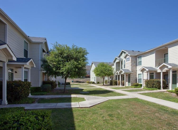 Courtyard at Springs at Live Oak Apartments in Live Oak