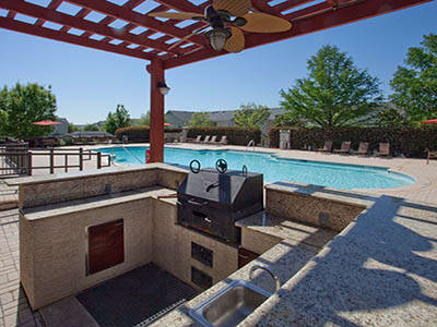 Fitness center at Springs at Live Oak Apartments in Live Oak