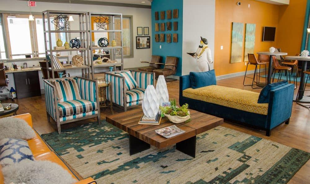 Elegant Clubhouse Living Room