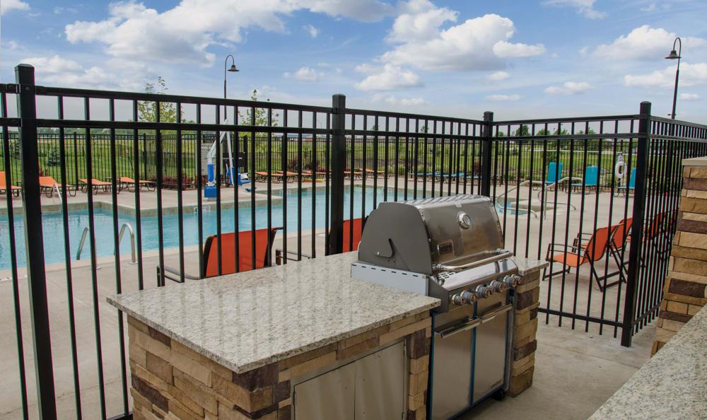 Grilling Area Near Pool