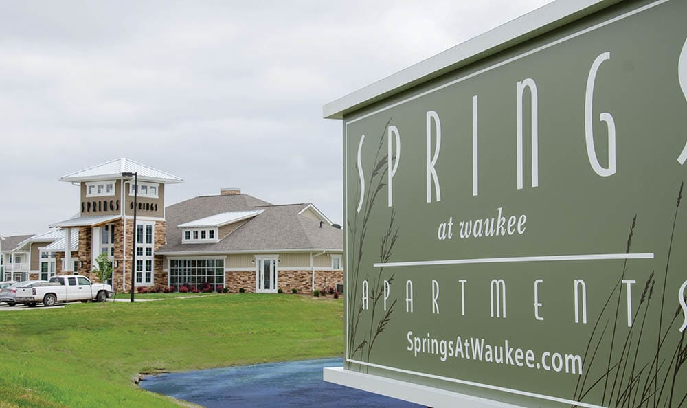 Springs at Waukee Apartments Front Sign