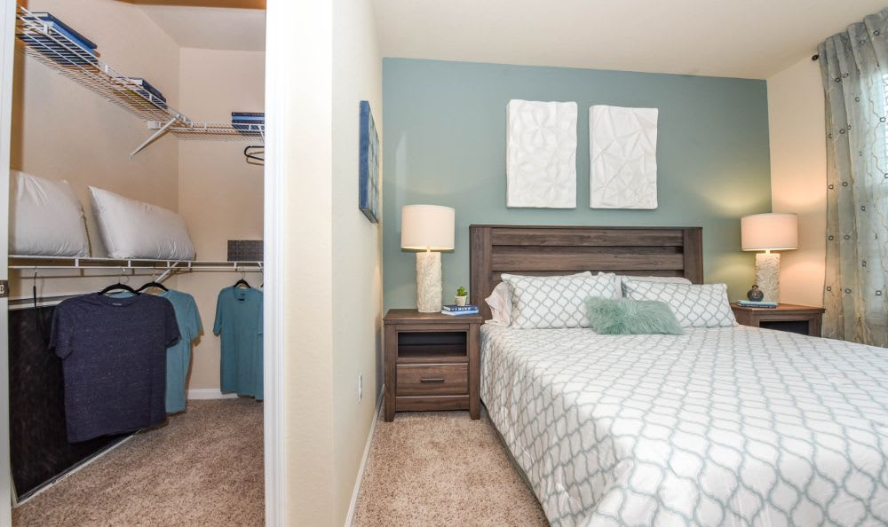 bedroom with spacious closet at Springs at West Chester Apartments in West Chester, OH