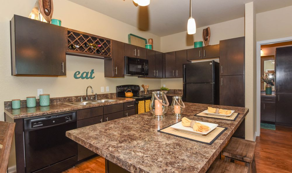 fully equipped kitchen at Springs at West Chester Apartments in West Chester, OH