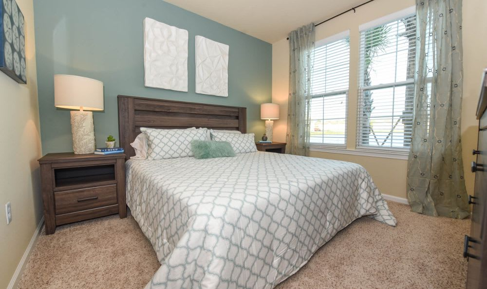 well decorated bedroom at Springs at West Chester Apartments in West Chester, OH