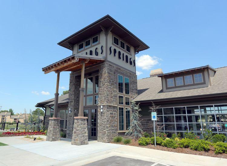 entrance at Springs at Woodlands South Apartments in Tulsa, OK