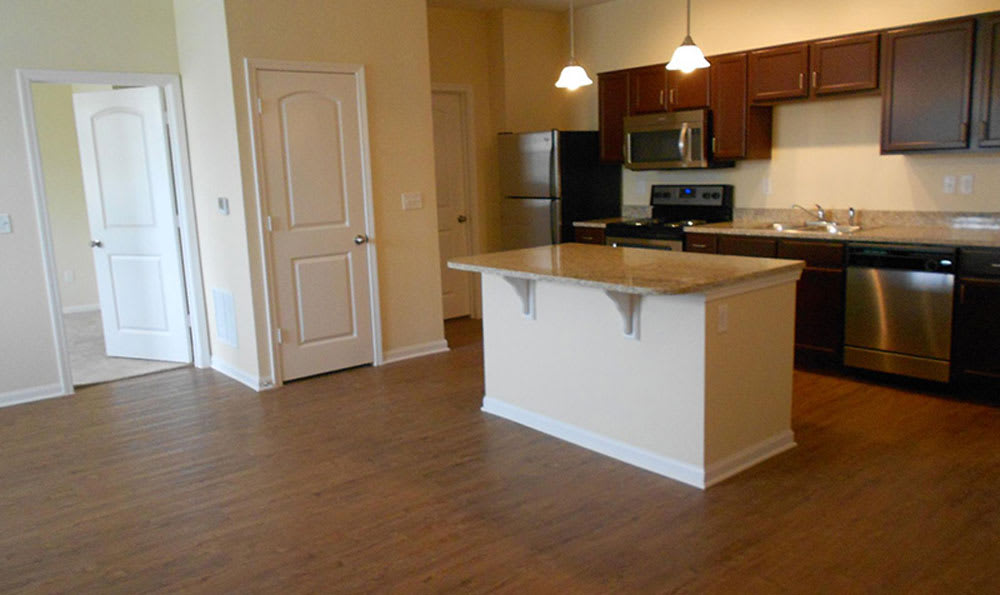 Dining room and Kitchen at Springs at Bettendorf in Bettendorf