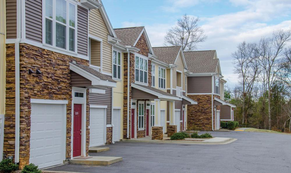 apartments garages at Springs at Greenville in Greenville, SC