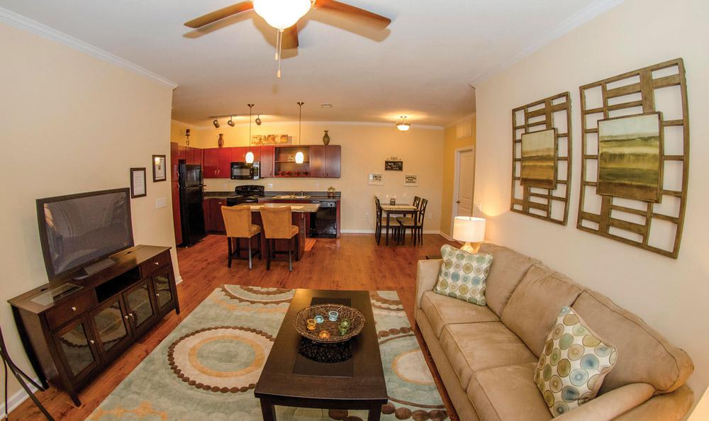 comfortable living room at Springs at Greenville in Greenville, SC