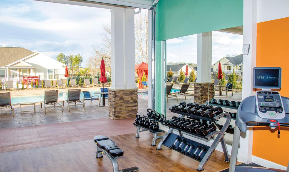 fitness center at Springs at Greenville in Greenville, SC