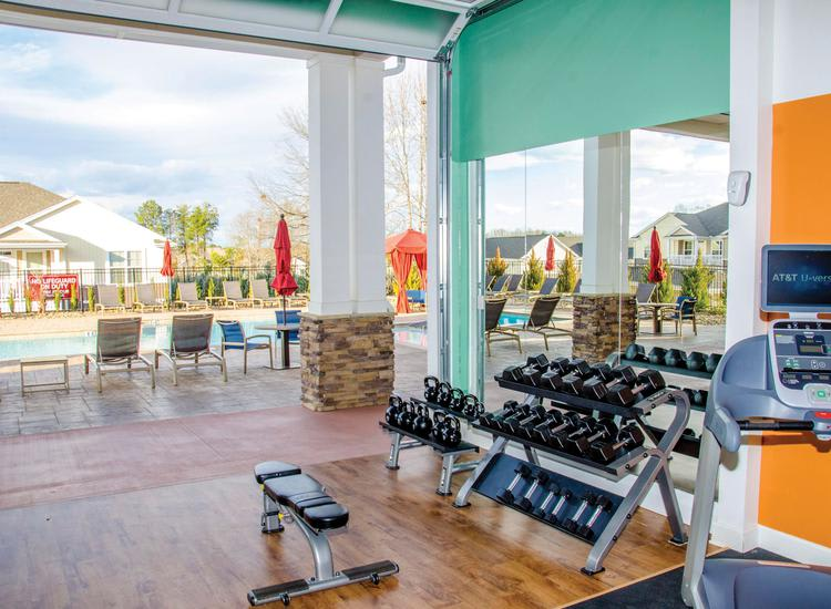 fitness center at Springs at Greenville in Greenville, SC