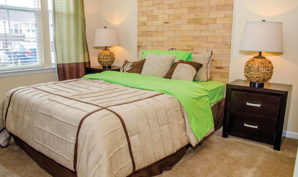 well decorated bedroom at Springs at Greenville in Greenville, SC
