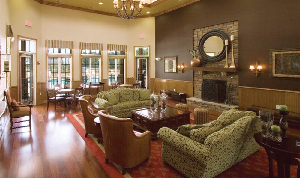Clubhouse interior at Springs at Greystone in Birmingham