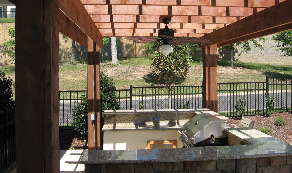 Outdoor kitchen at Springs at Greystone in Birmingham