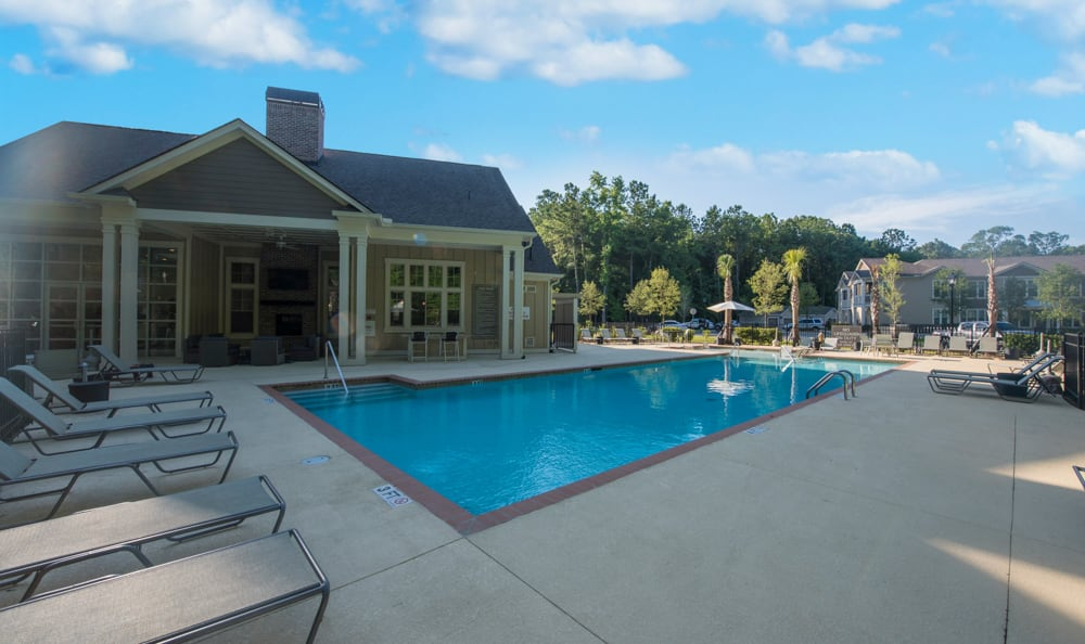Resort-style pool at Springs at Laurens Road in Greenville