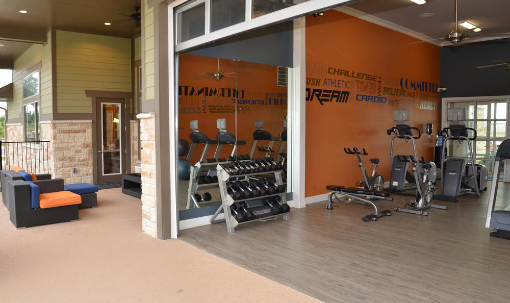Fitness center at Springs at May Lakes in Oklahoma City, OK