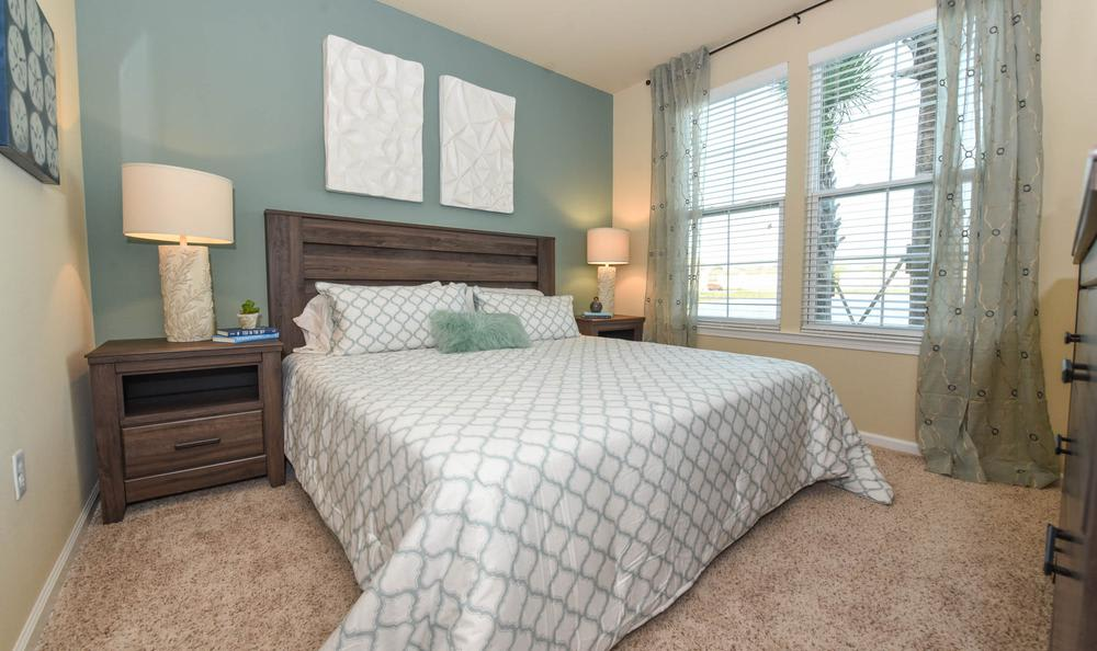 spacious bedroom at Springs at May Lakes in Oklahoma City, OK