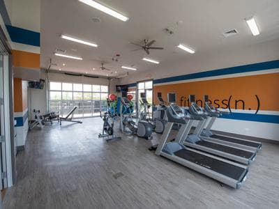 Fitness center at Springs at Weber Road in Romeoville